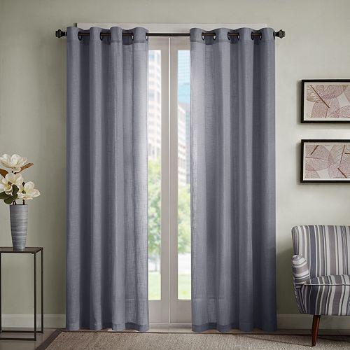 Madison Park 1-Panel Lyndon Linen Blend Window Curtain