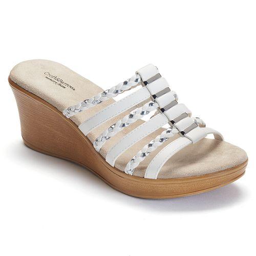 9222478b600 Croft   Barrow® Women s Braided Wedge Sandals
