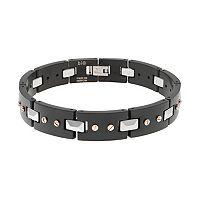 LYNX Two Tone Stainless Steel Men's Bracelet
