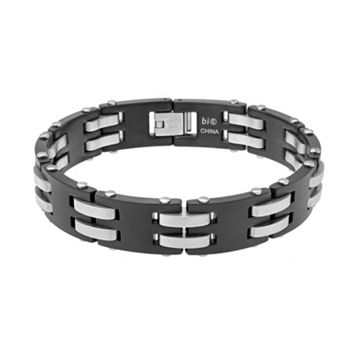 LYNX Two Tone Stainless Steel Men's Bracelet