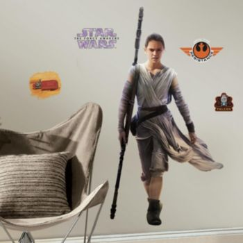Star Wars: Episode VII The Force Awakens Rey Peel & Stick Giant Wall Decal