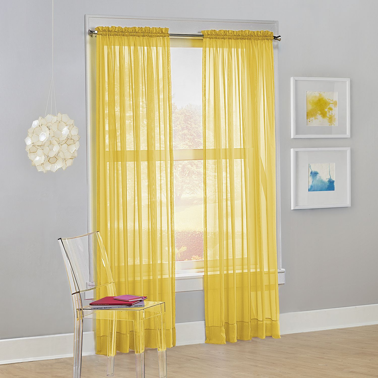 Yellow Sheers Curtains U0026 Drapes   Window Treatments, Home Decor | Kohlu0027s