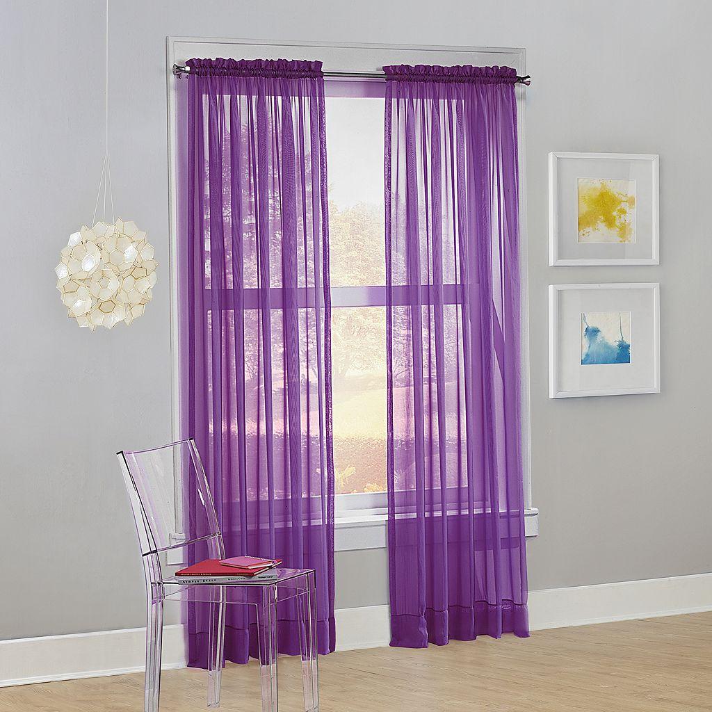 No918 Calypso Sheer Voile Window Curtain