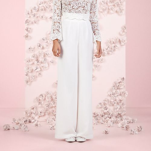 LC Lauren Conrad Runway Collection High Waist Wide-Leg Pants - Women's