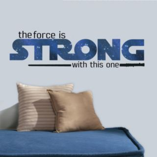 Star Wars Classic ''The Force Is Strong With This One'' Peel & Stick Wall Decal