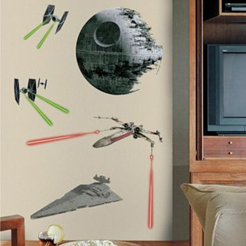 Star Wars Classic Spaceships Peel & Stick Giant Wall Decal