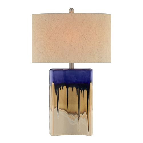 Catalina 3-Way 27'' Multi-Color Ceramic Table Lamp