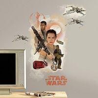 Star Wars: Episode VII The Force Awakens Hero Burst Peel & Stick Wall Decals