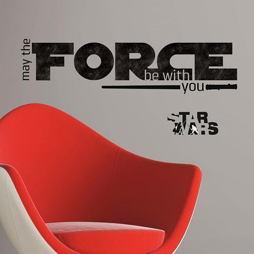 Star Wars: Episode VII The Force Awakens ''May The Force Be With You'' Peel & Stick Wall Decals