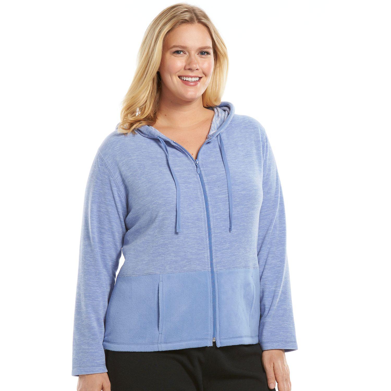 Plus Size Jaclyn Inc Pajamas: SuperSpan Fleece Sleep Hoodie
