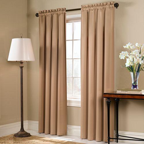 United Curtain Co. Blackout 1-Panel Blackstone Window Curtain