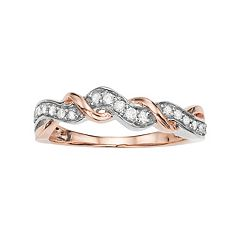 Two Tone 10k Rose Gold 1/5 Carat T.W. Diamond Ring
