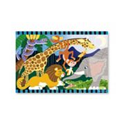 Melissa & Doug 24 pc Safari Social Floor Puzzle