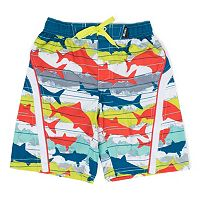 Boys 4-7 Big Chill Camouflage Shark Swim Trunks