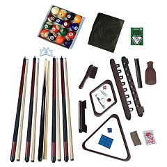 Hathaway Deluxe Billiards Mahogany Finish Accessory Kit