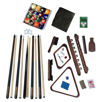 Hathaway Deluxe Billiards Walnut Finish Accessory Kit