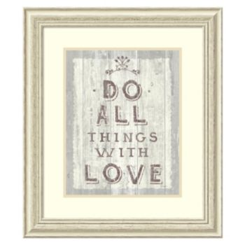 """Do All Things Driftwood'' Framed Wall Art"