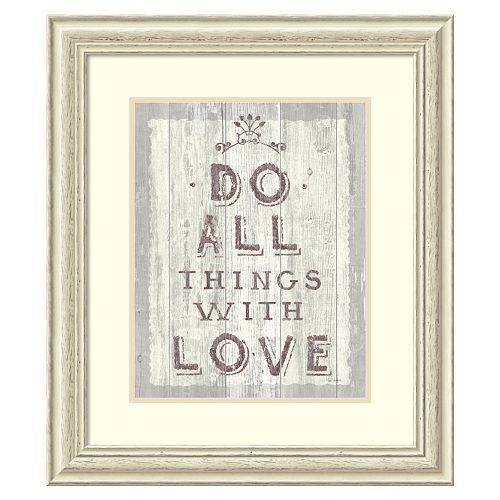 """Do All Things Driftwood'' Framed Wall Art"