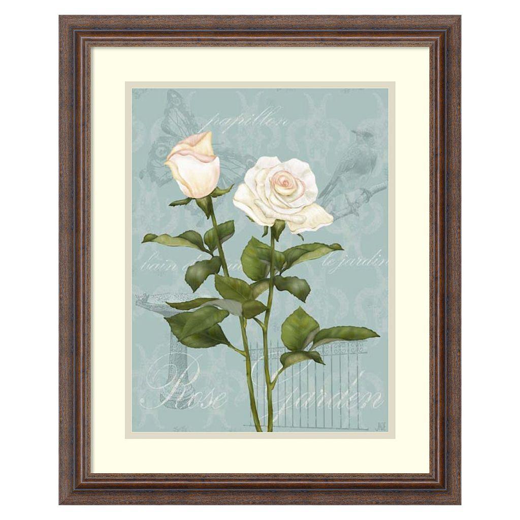 ''Cream Rose II'' Framed Wall Art