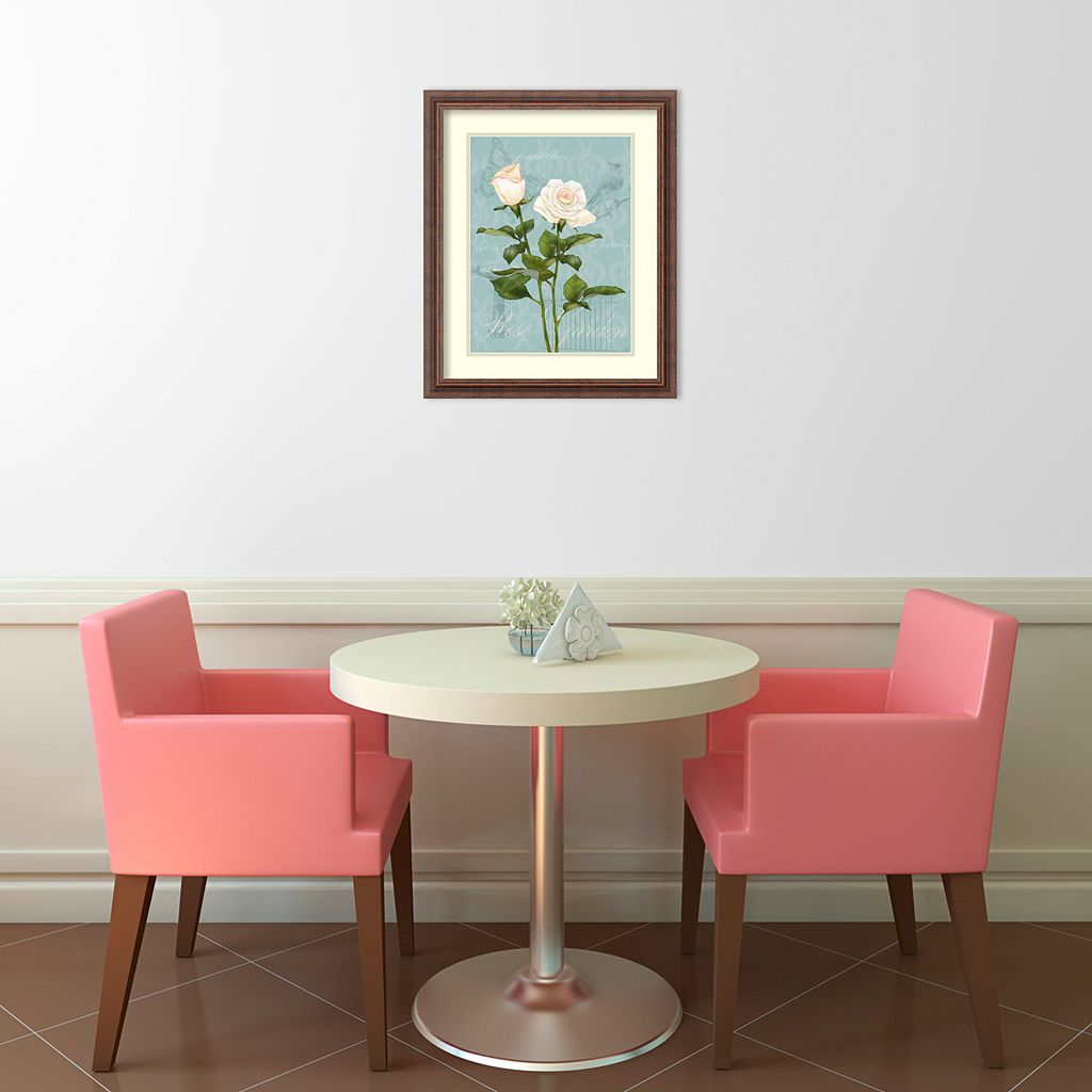 ''Cream Rose II'' Framed Wall Art