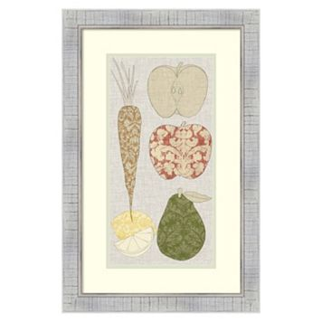 ''Contour Fruits and Veggies VII'' Framed Wall Art