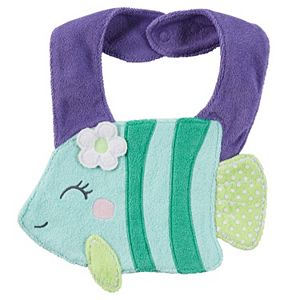 Baby Girl Carter's Animal Terry Bib