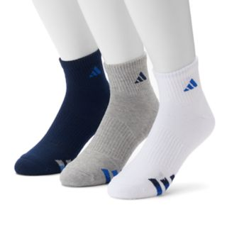 adidas 3-Pack Climalite Cushioned Performance Quarter Socks - Men