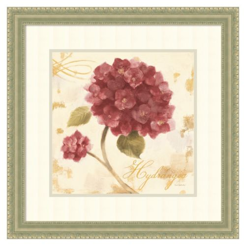 """Abundant – Marsala Hydrangea I"" Framed Wall Art"