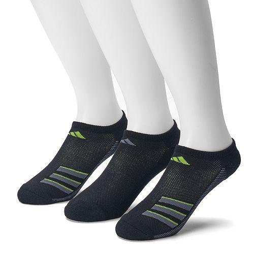 022214384a05 adidas 3-Pack Climacool Superlite Performance No-Show Socks - Men