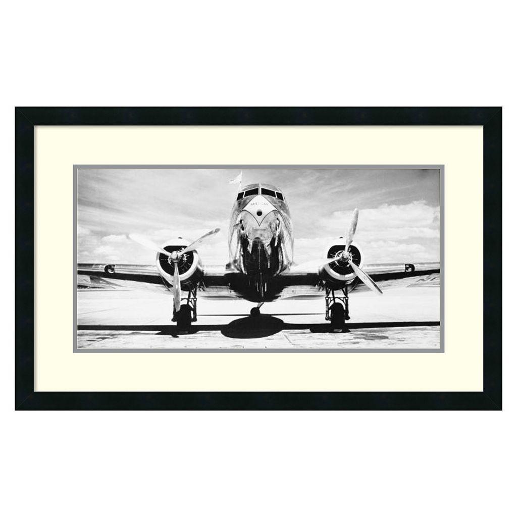 ''Passenger Airplane On Runway'' Framed Wall Art