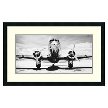 ''Passenger Airplane On Runway'' Framed Wall Art