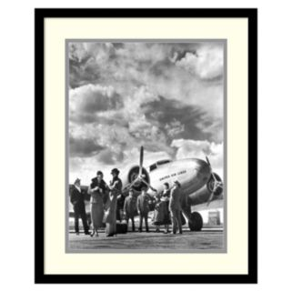 ''Passenger At Aviation Field At Newark NJ 1940s'' Framed Wall Art