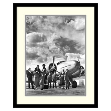 ''Passenger At Aviation Field At Newark NJ 1940s'' Framed Wall Art
