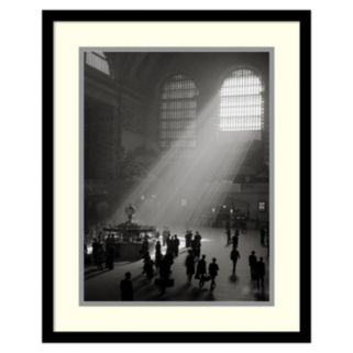 ''Sunbeams Streaming Into Grand Central Station, NYC'' Framed Wall Art