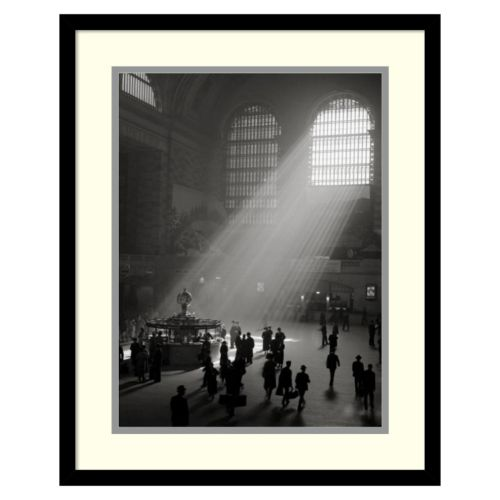"""Sunbeams Streaming Into Grand Central Station, NYC"" Framed Wall Art"