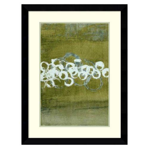 """""""Green Orbs I"""" Framed Wall Art"""