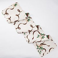 Lenox Holiday Nouveau Quilted Reversible Table Runner - 70