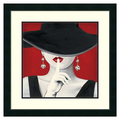 ''Haute Chapeau Rouge I'' Framed Wall Art