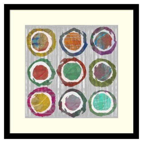 """Jagged Circles II"" Framed Wall Art"