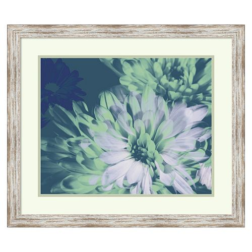 ''Teal Bloom II'' Framed Wall Art