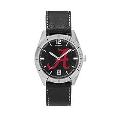 Men's Alabama Crimson Tide Guard Leather Watch