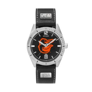 Men's Baltimore Orioles Guard Leather Watch