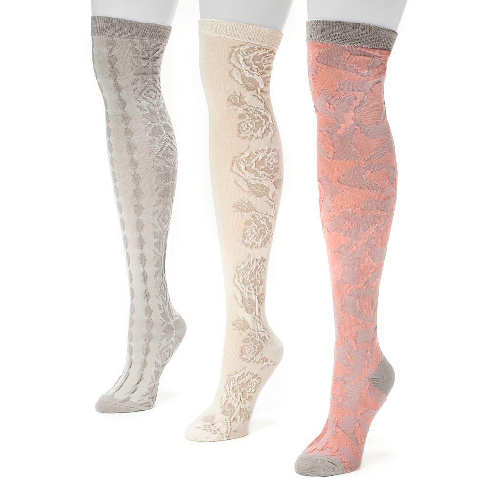 MUK LUKS 3-pk. Women's Microfiber Over-The-Knee Socks