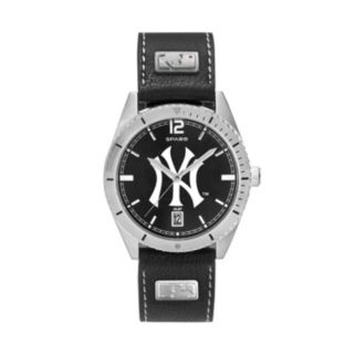Men's New York Yankees Guard Leather Watch