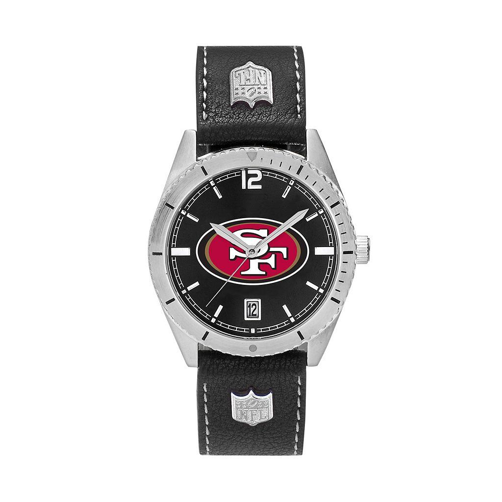 Men's San Francisco 49ers Guard Leather Watch