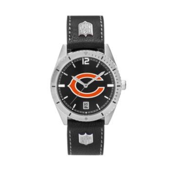 Men's Chicago Bears Guard Leather Watch