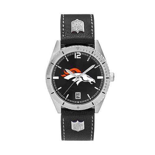 Men's Denver Broncos Guard Leather Watch