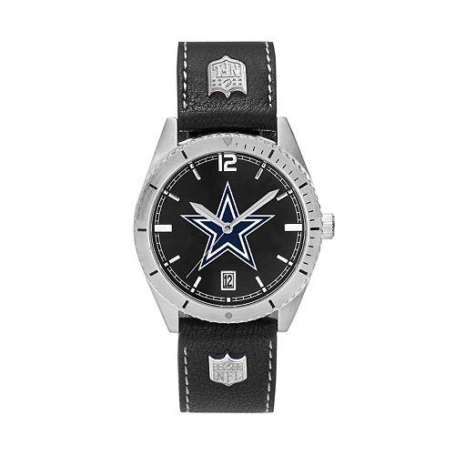 Men's Dallas Cowboys Guard Leather Watch
