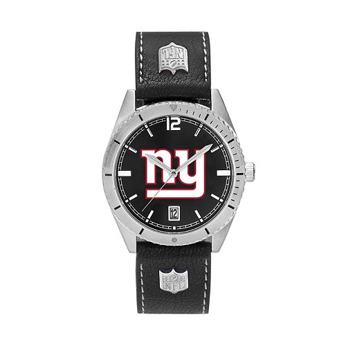 Men's New York Giants Guard Leather Watch