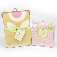 Lolli Living Floral Plush Blanket & Fitted Crib Sheet Set